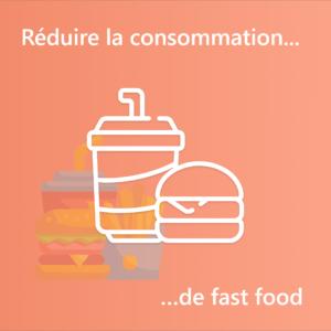 """Illustration """"Réduire la consomation de fast-food"""""""
